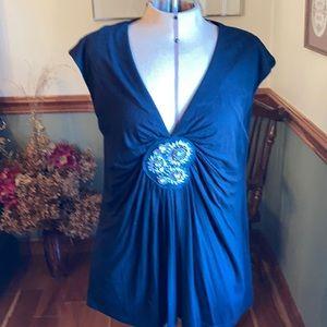 Dress Barn black 14/16 sleeveless top